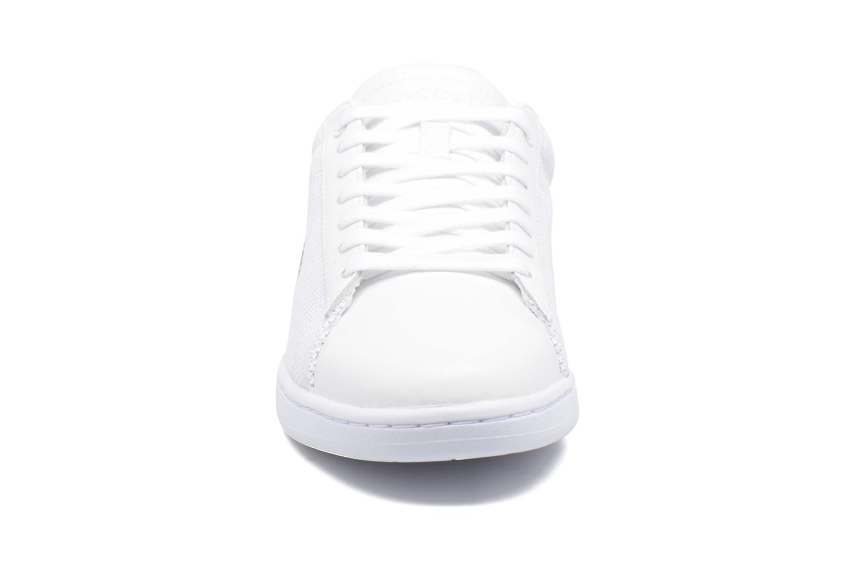 Sneakers Lacoste Carnaby Evo 117 5 Bianco modello indossato