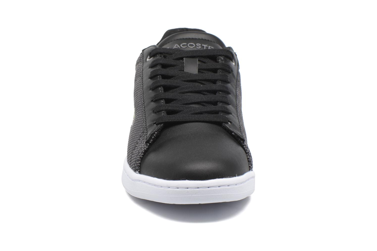 Baskets Lacoste Carnaby Evo 117 1 Noir vue portées chaussures