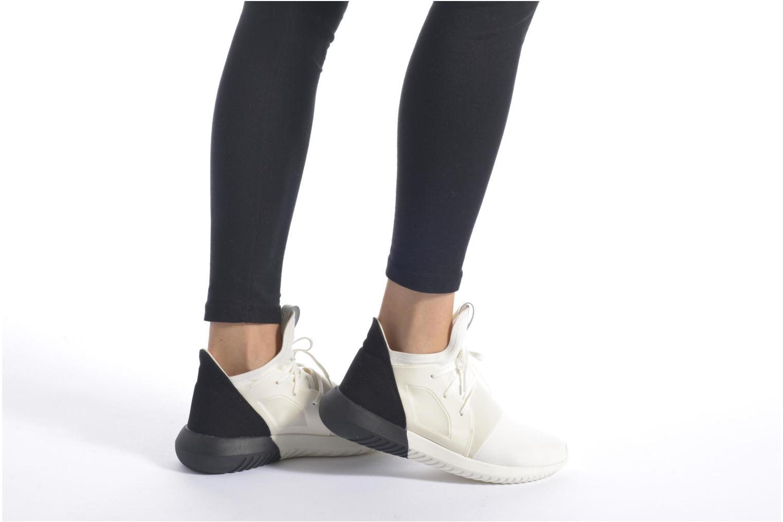 Baskets Adidas Originals Tubular Defiant W Blanc vue bas / vue portée sac