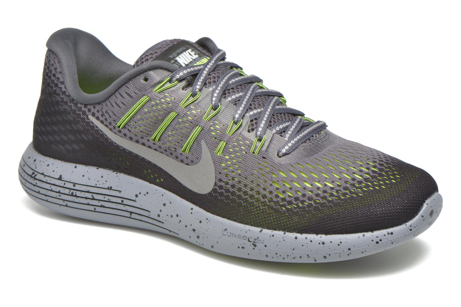 Nike Lunarglide 8 Shield Dark Grey/Metallic Silver-Black-Volt