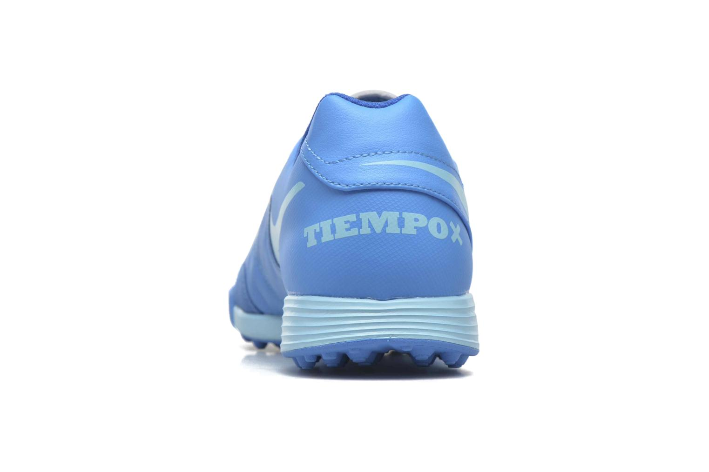 Chaussures de sport Nike Tiempox Genio II Leather Tf Bleu vue droite