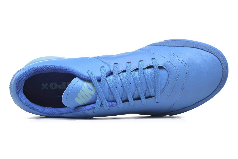 Chaussures de sport Nike Tiempox Genio II Leather Tf Bleu vue gauche
