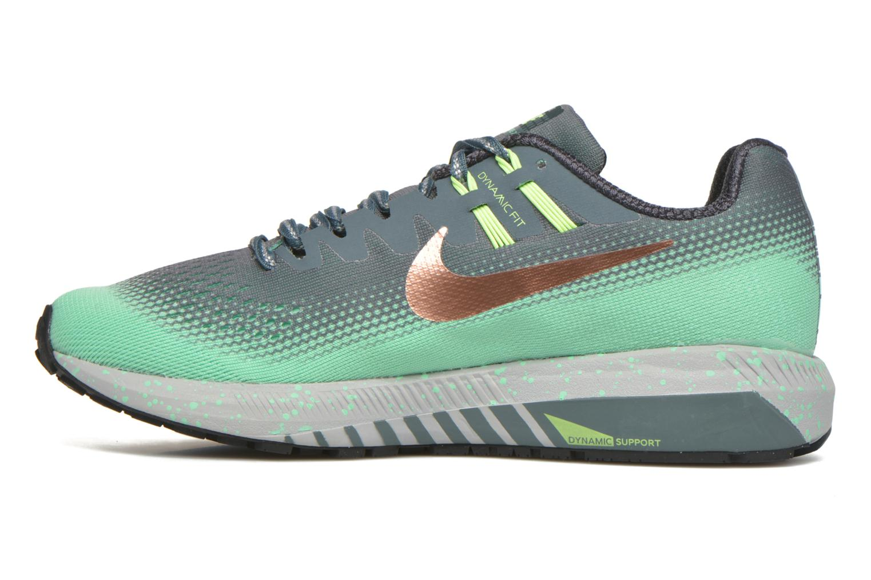Chaussures de sport Nike W Air Zoom Structure 20 Shield Vert vue face