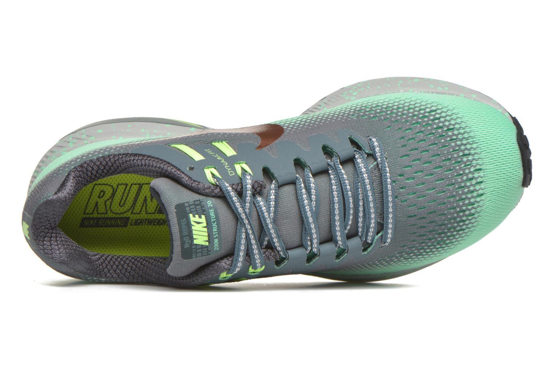 Chaussures de sport Nike W Air Zoom Structure 20 Shield Vert vue gauche