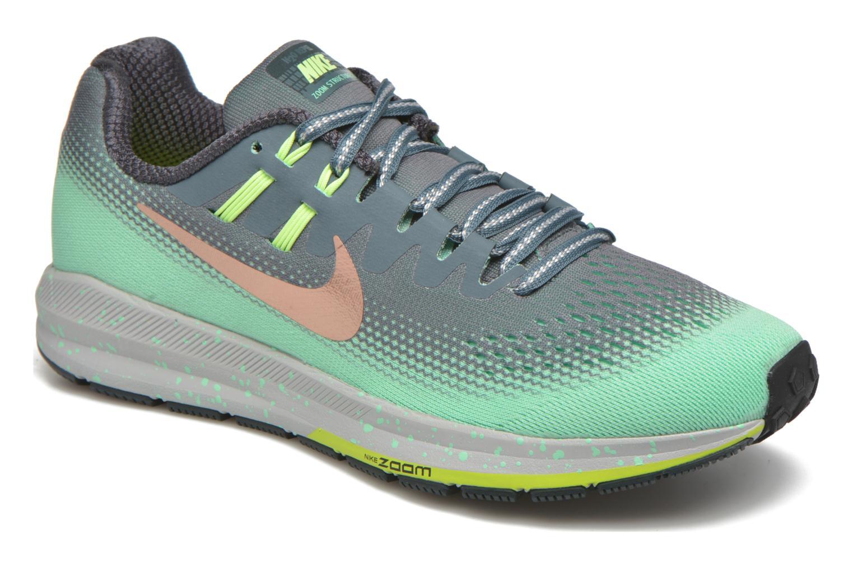 Chaussures de sport Nike W Air Zoom Structure 20 Shield Vert vue détail/paire