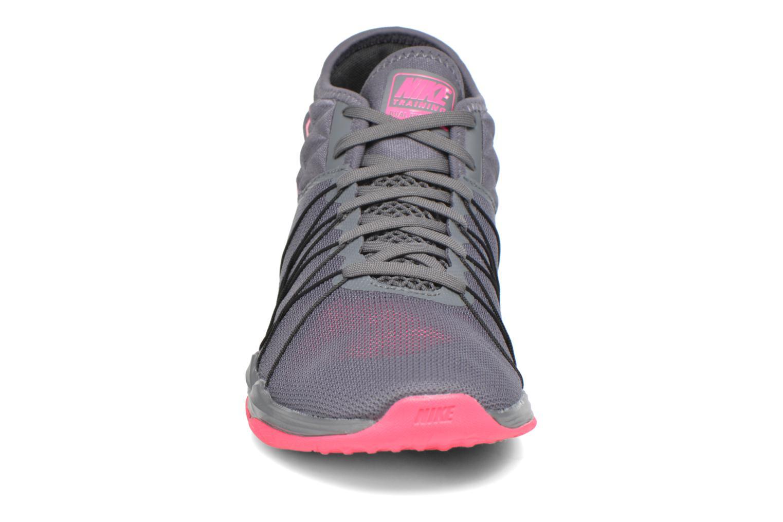 Chaussures de sport Nike W Nike Dual Fusion Tr Hit Mid Gris vue portées chaussures