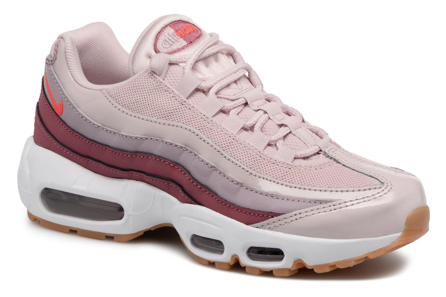 Wmns Air Max 95 Barely Rose/Hot Punch-Vintage Wine-White