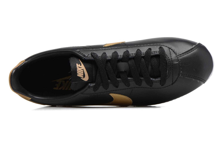 Wmns Classic Cortez Leather Black/metallic gold