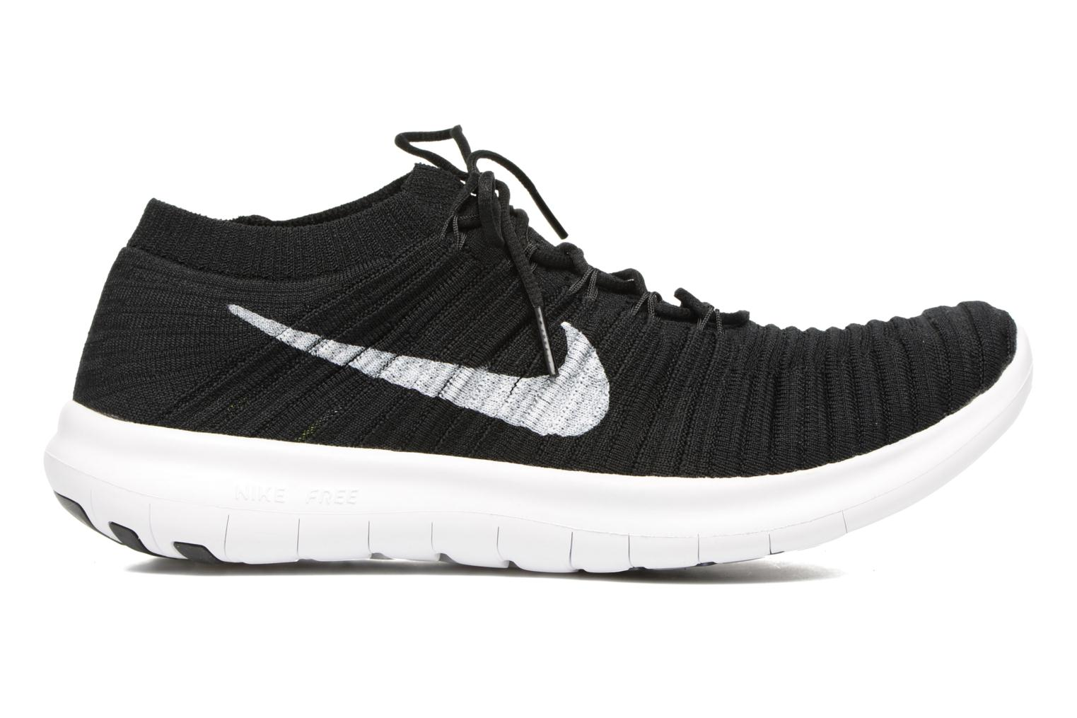 Nike Free Rn Motion Flyknit Black/White-Volt-Dark Grey