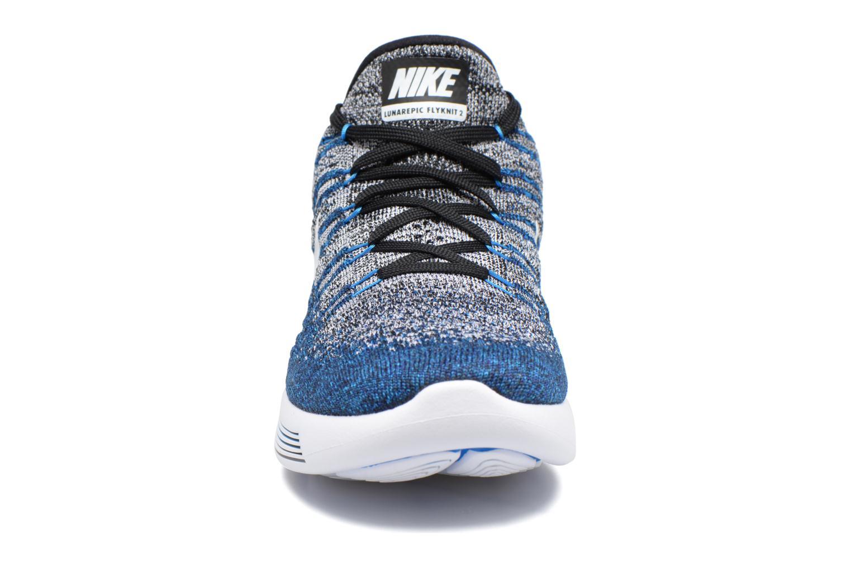 Zapatillas de deporte Nike Nike Lunarepic Low Flyknit 2 Azul vista del modelo