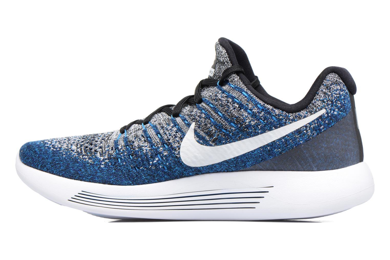 Zapatillas de deporte Nike Nike Lunarepic Low Flyknit 2 Azul vista de frente