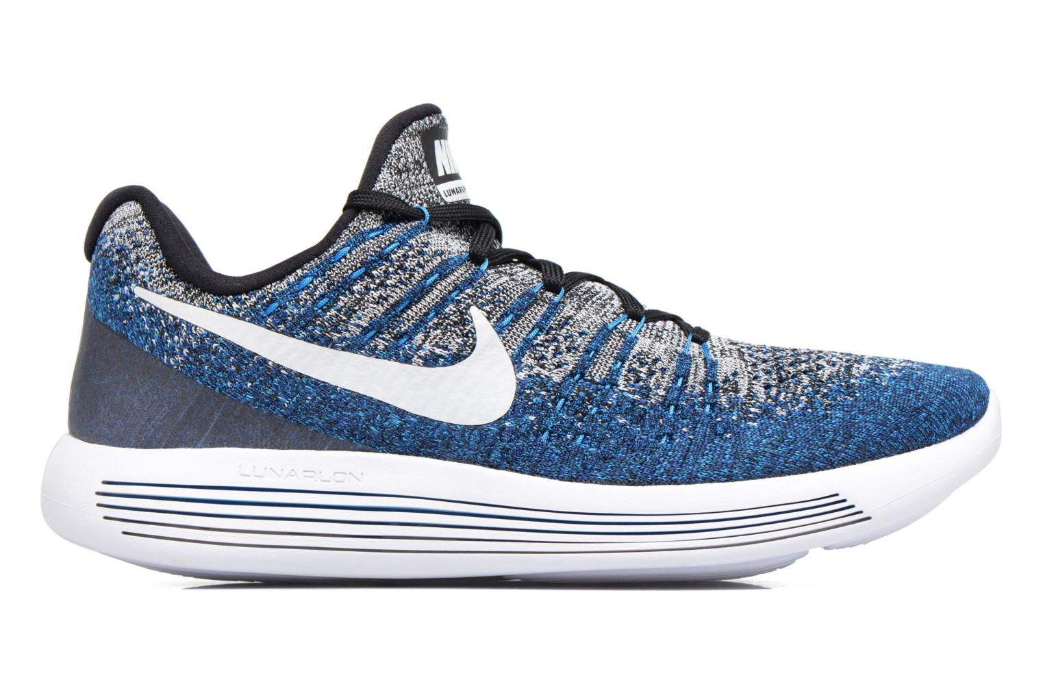 Nike Lunarepic Low Flyknit 2 Black/White-Photo Blue-Deep Royal Blue