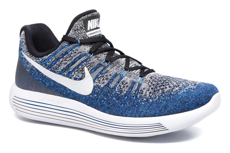 Zapatillas de deporte Nike Nike Lunarepic Low Flyknit 2 Azul vista de detalle / par