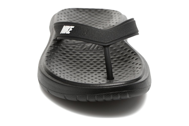 Zehensandalen Nike Solay Thong schwarz schuhe getragen