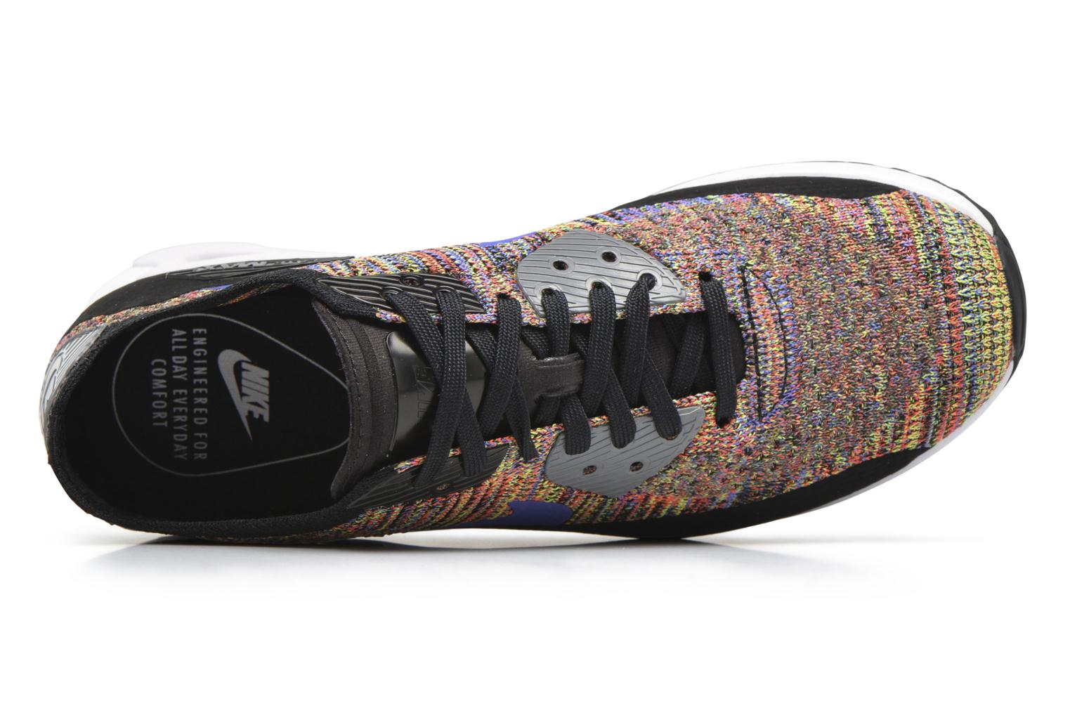 Trainers Nike W Air Max 90 Ultra 2.0 Flyknit Black view from the left