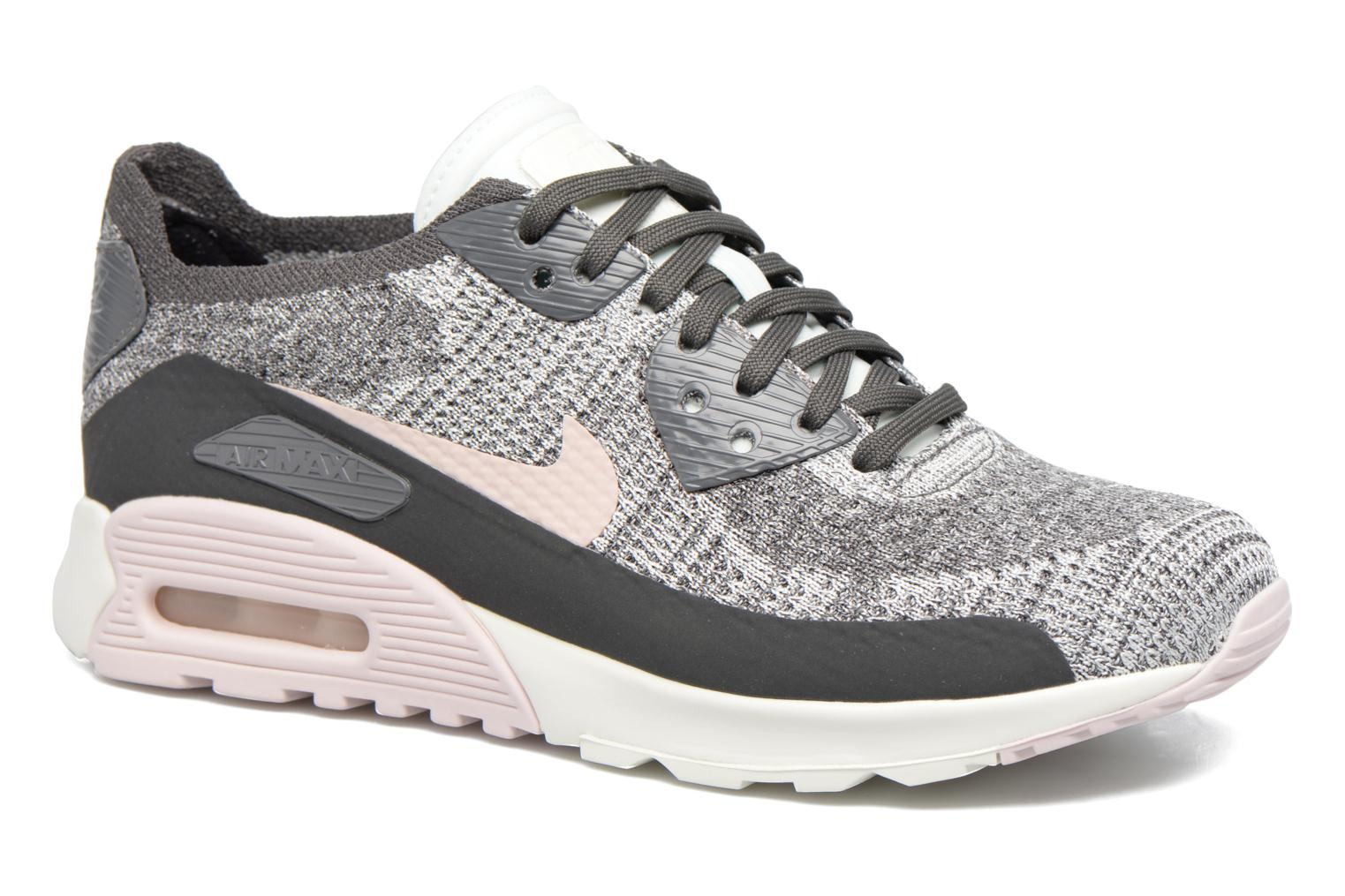 Trainers Nike W Air Max 90 Ultra 2.0 Flyknit Grey detailed view/ Pair view