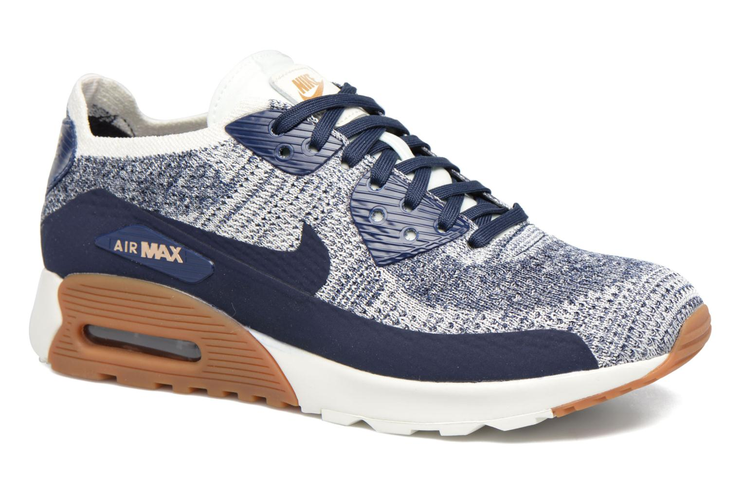 W Air Max 90 Ultra 2.0 Flyknit College Navy/College Navy-Gum Med Brown