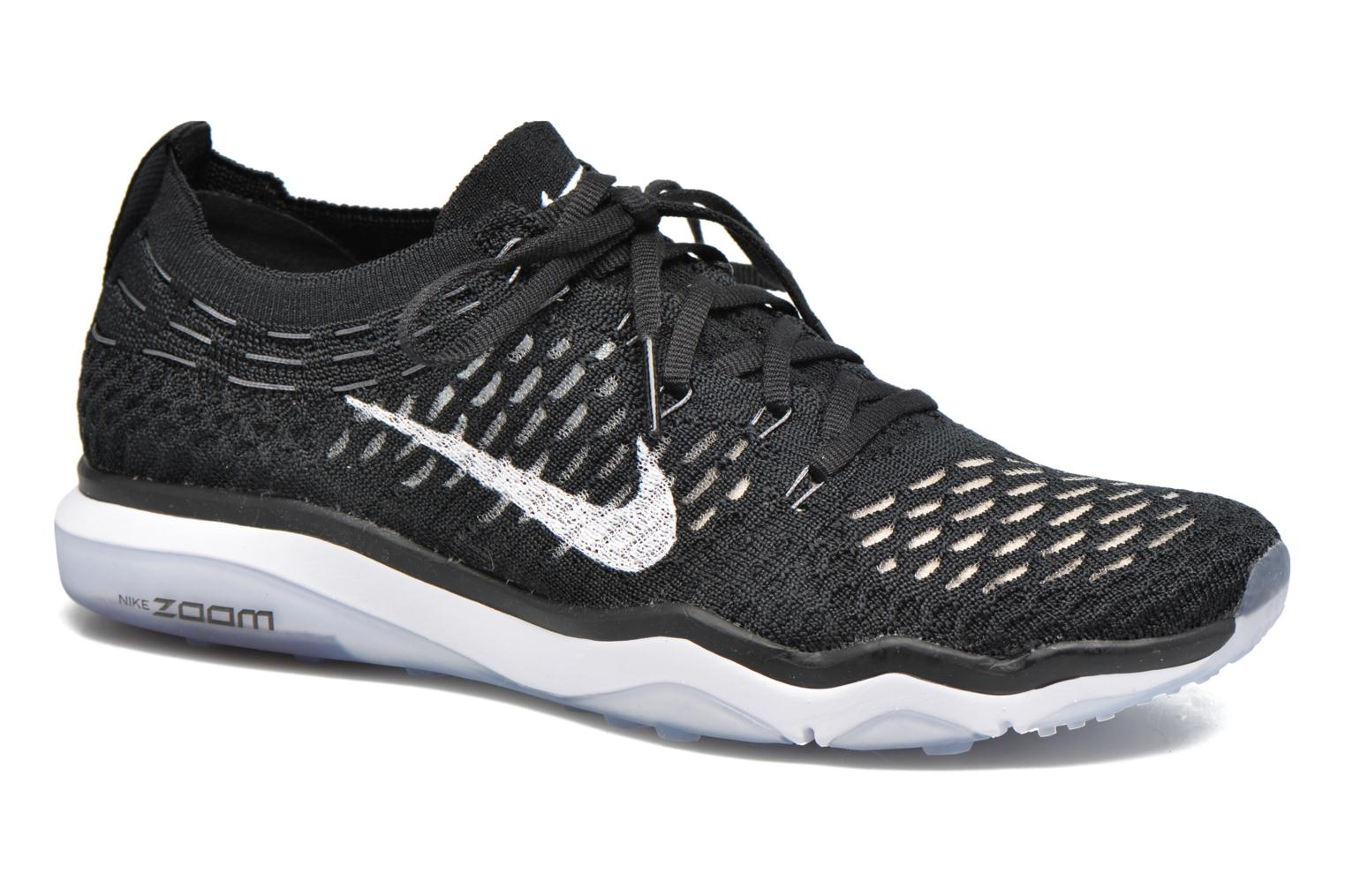 Sport shoes Nike W Air Zoom Fearless Flyknit Black detailed view/ Pair view