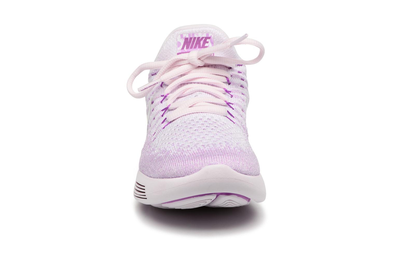 Chaussures de sport Nike W Lunarepic Low Flyknit 2 Iwd Violet vue portées chaussures