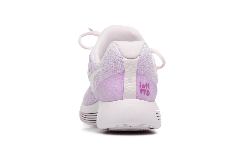 Chaussures de sport Nike W Lunarepic Low Flyknit 2 Iwd Violet vue droite