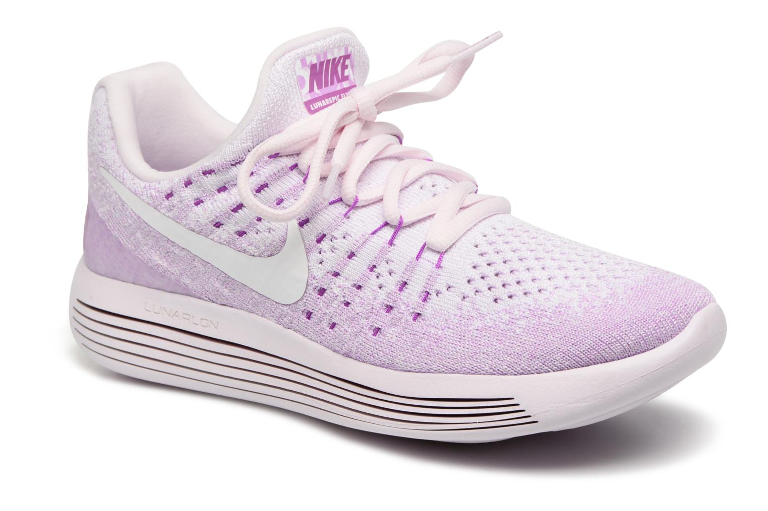 Sport shoes Nike W Lunarepic Low Flyknit 2 Iwd Purple detailed view/ Pair view