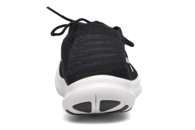 W Nike Free Rn Motion Flyknit Black/White-Volt-Dark Grey