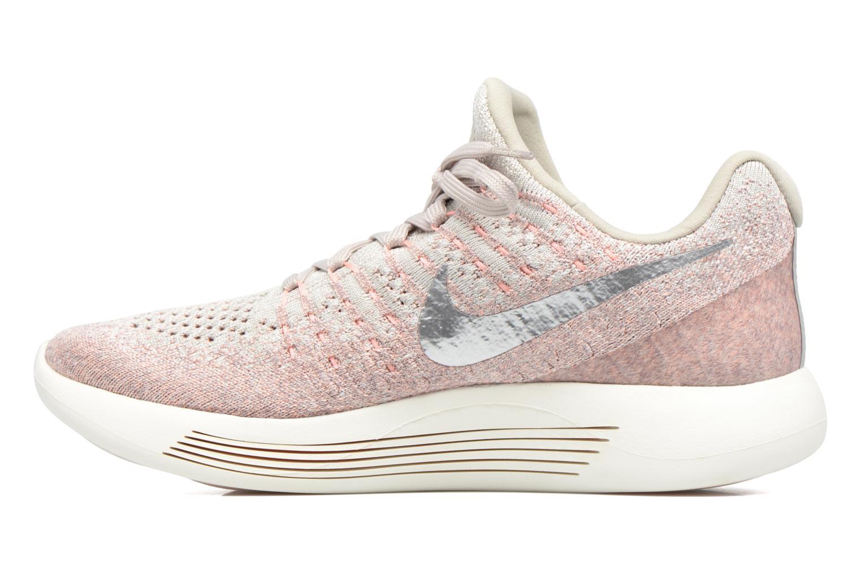 W Nike Lunarepic Low Flyknit 2 Pale Grey/Metallic Silver-Sunset Glow