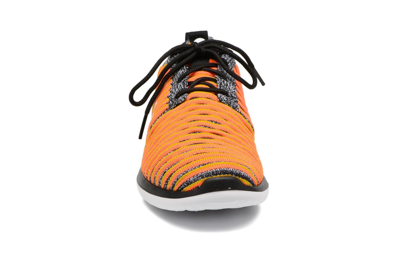 W Nike Roshe Two Flyknit Black/White-Bright Mango-Gold Lead