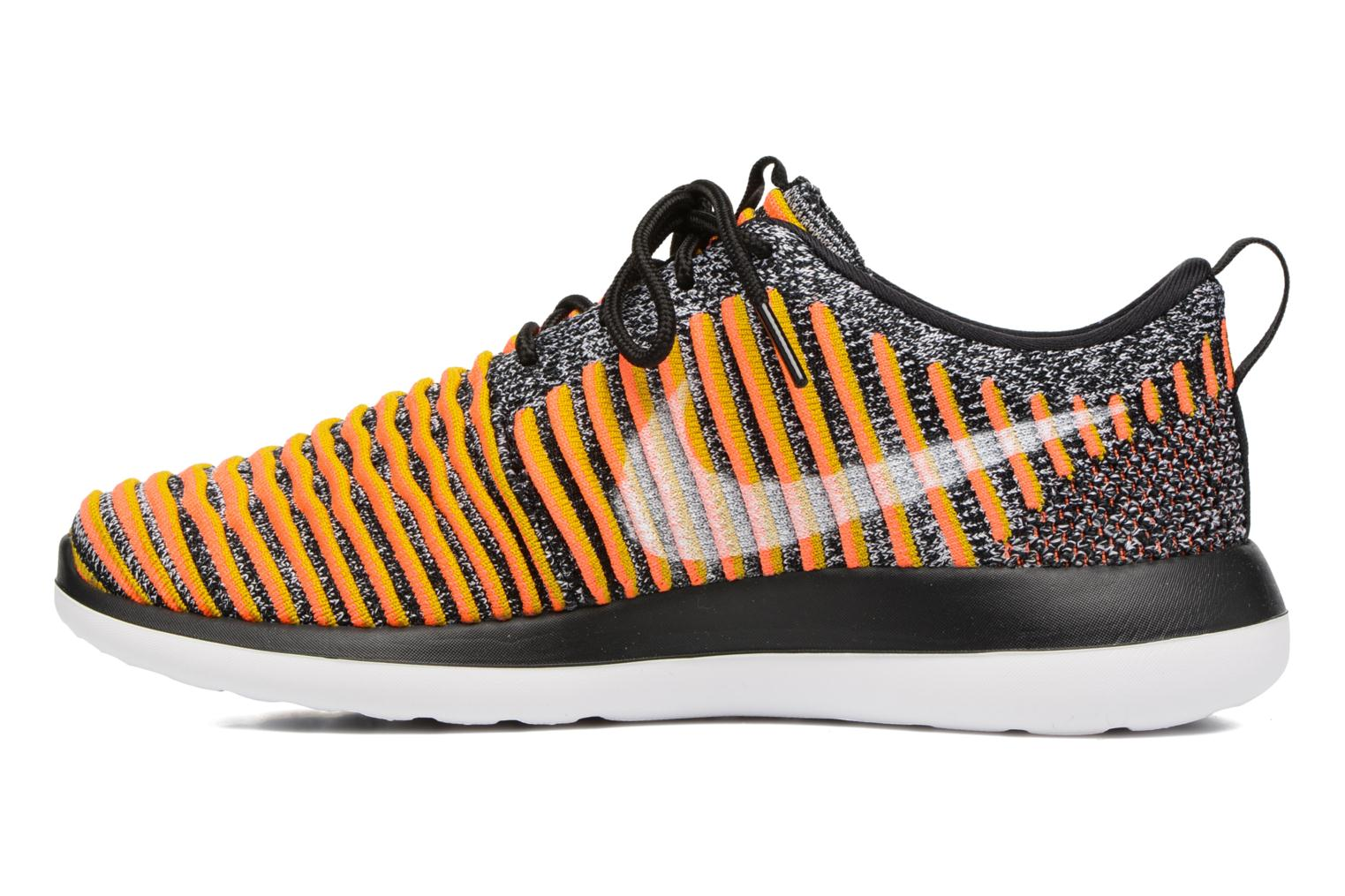 W Nike Roshe Two Flyknit Black/White-Bright Mango-Gold Lead