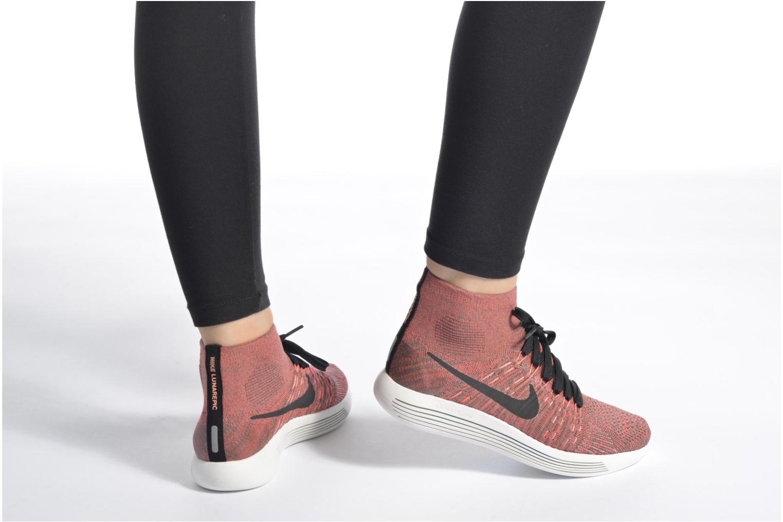 Chaussures de sport Nike Wmns Nike Lunarepic Flyknit Marron vue bas / vue portée sac