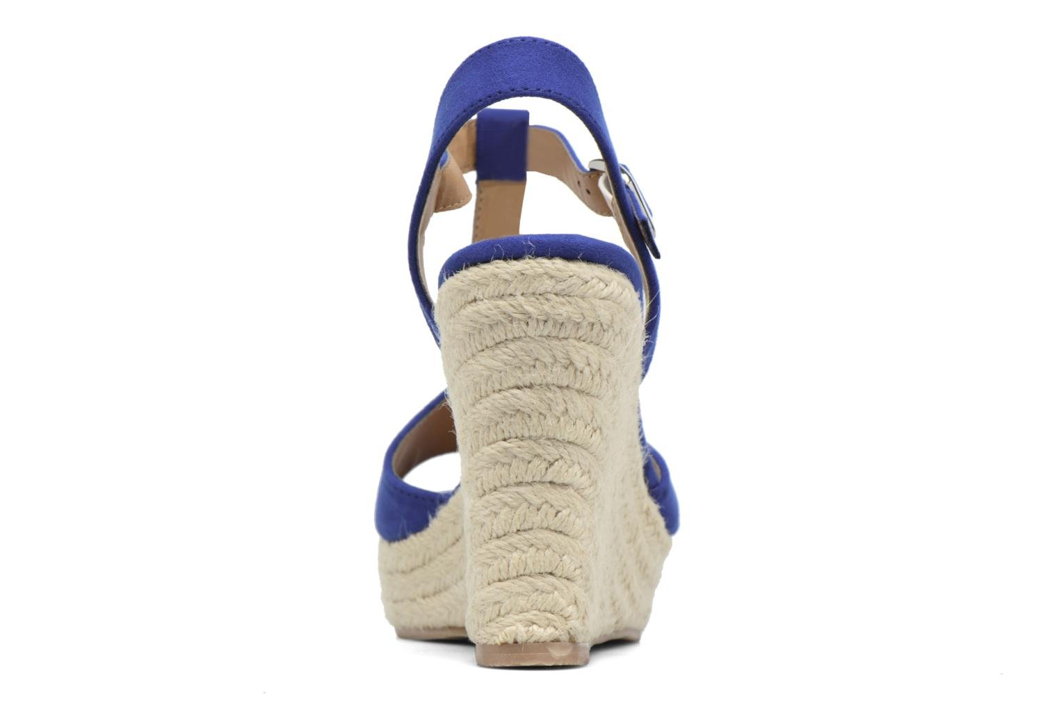 Alpargatas I Love Shoes MCADA Azul vista lateral derecha