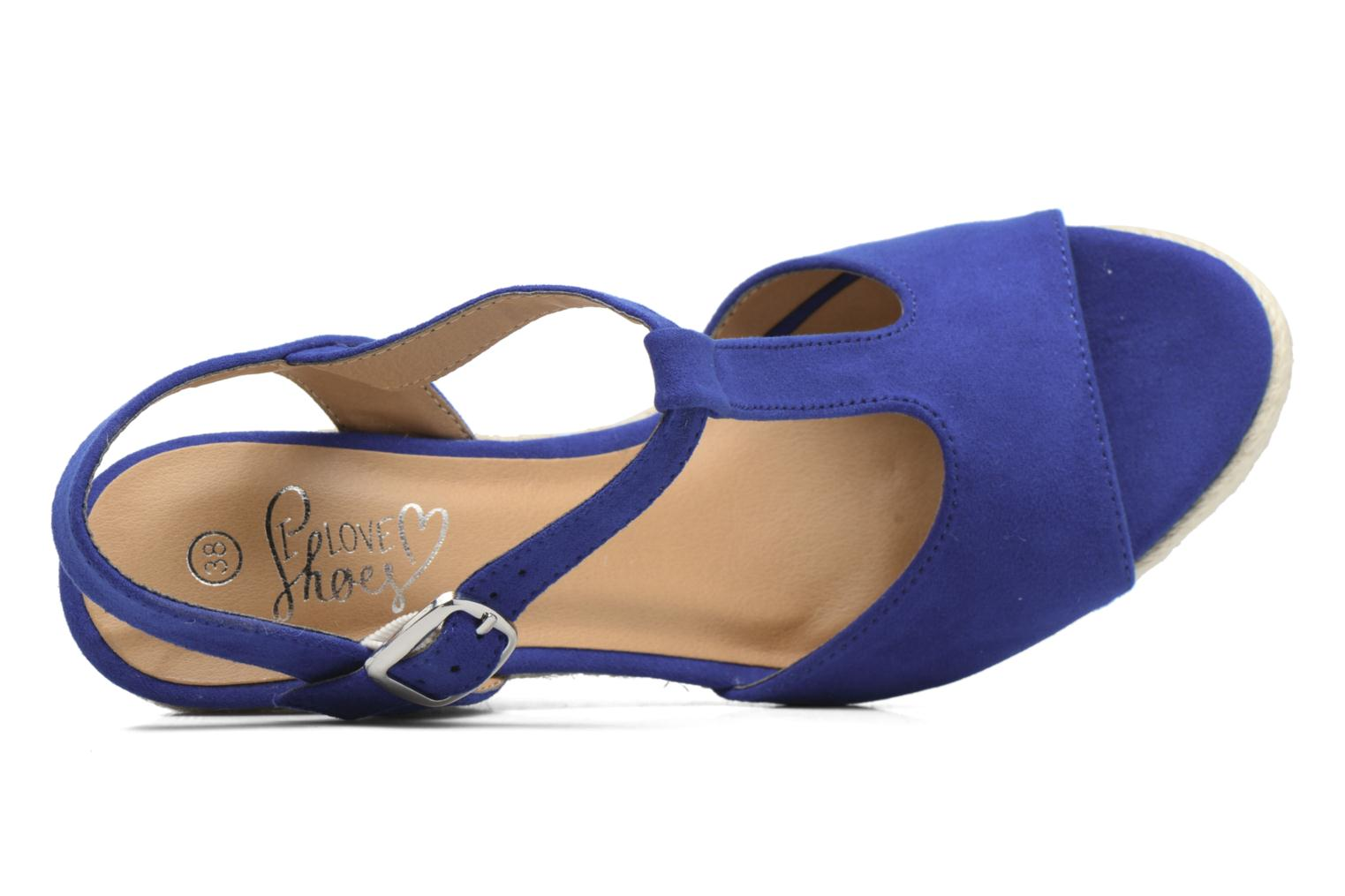 Alpargatas I Love Shoes MCADA Azul vista lateral izquierda