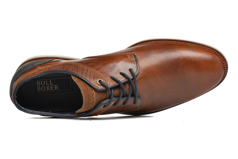Zapatos con cordones Bullboxer Mattew Marrón vista lateral izquierda