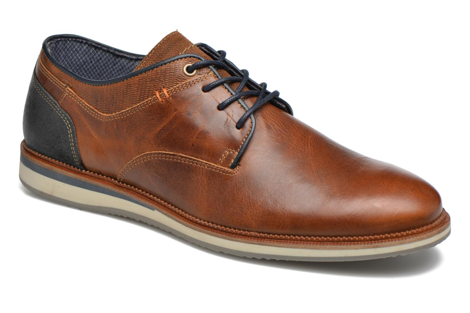 Lace-up shoes Bullboxer Mattew Brown detailed view/ Pair view