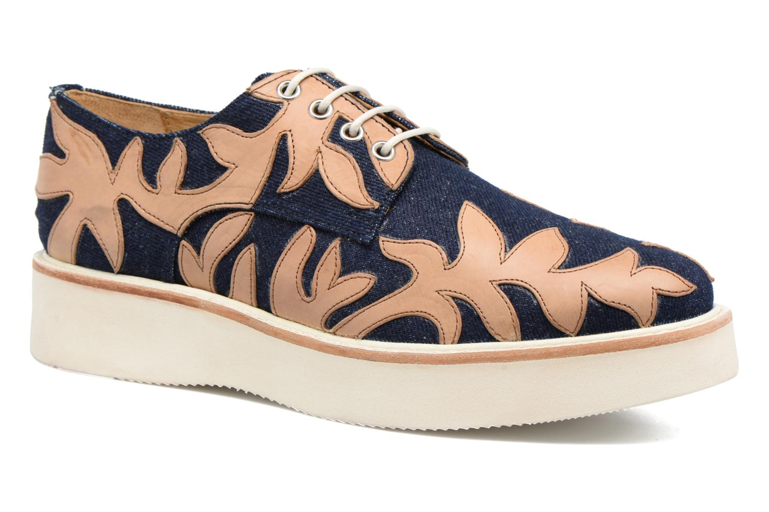 Molly 11 Jeans Cow Crust Navy tan ginger white