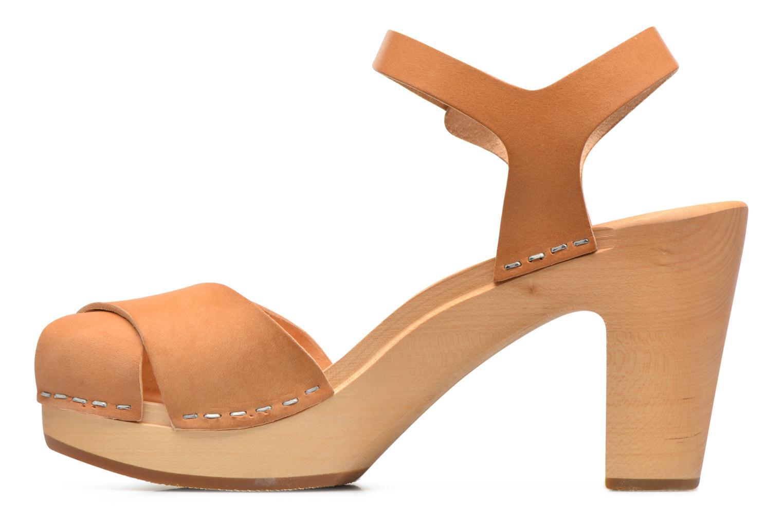 Sandales et nu-pieds Swedish Hasbeens Merci Sandal Beige vue face