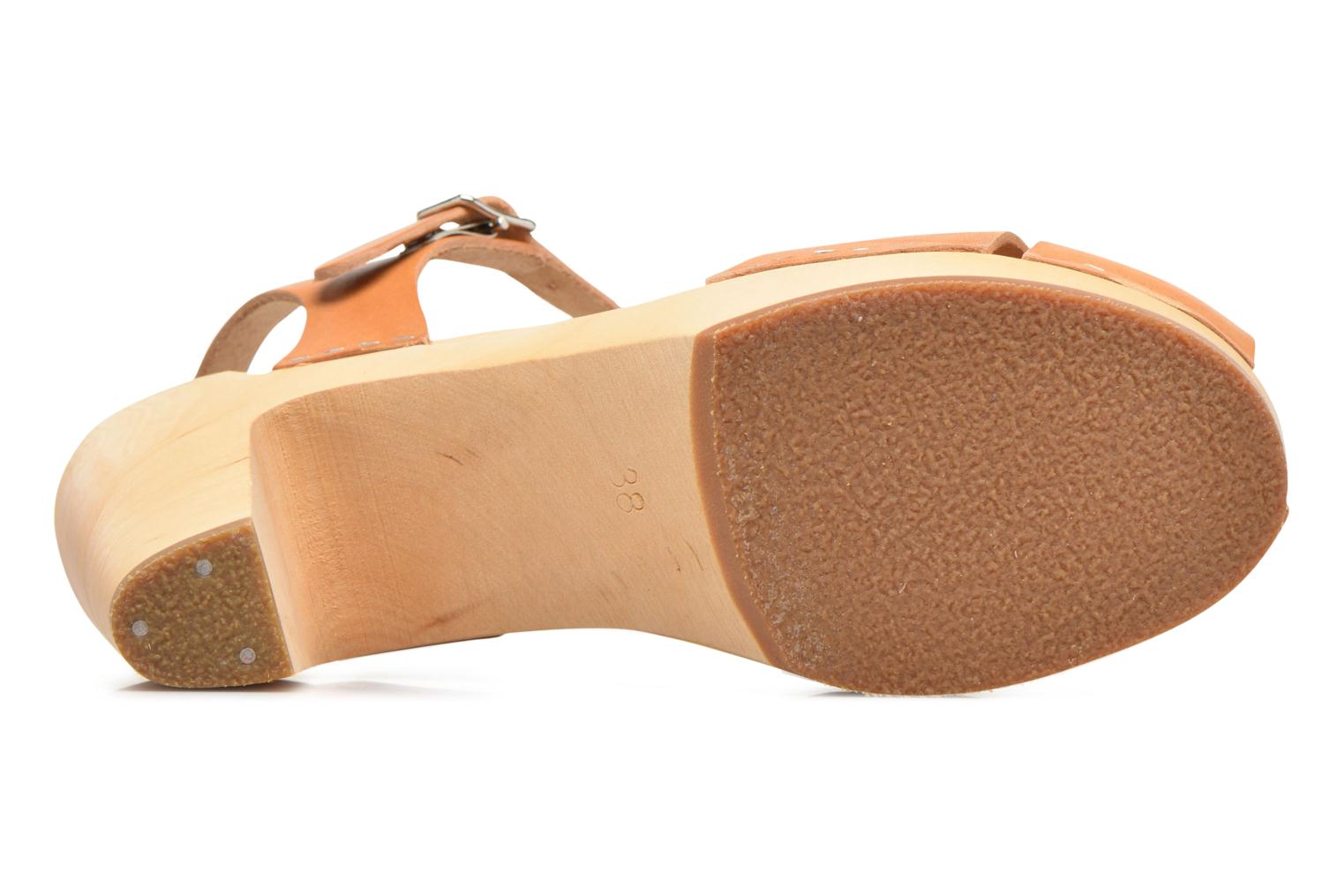 Sandals Swedish Hasbeens Merci Sandal Beige view from above