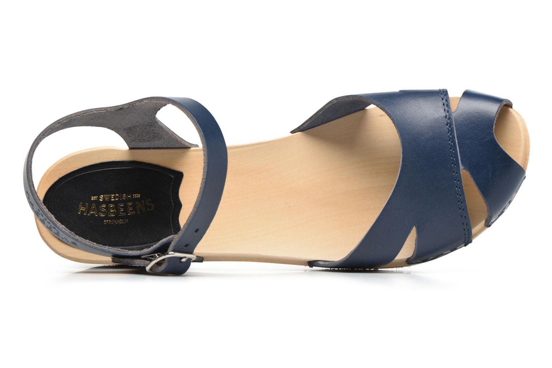 Sandales et nu-pieds Swedish Hasbeens Suzanne Debutant Bleu vue gauche