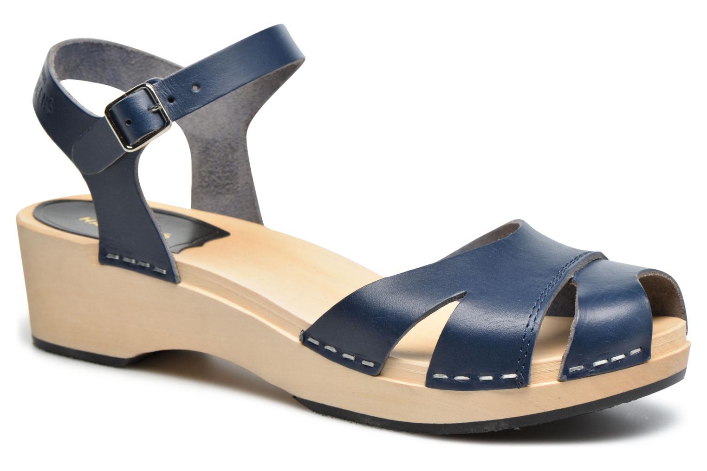 Sandales et nu-pieds Swedish Hasbeens Suzanne Debutant Bleu vue détail/paire