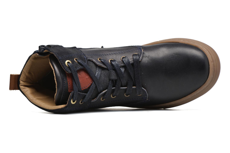 Sneakers Pantofola d'Oro Benevento II mid JR Azzurro immagine sinistra