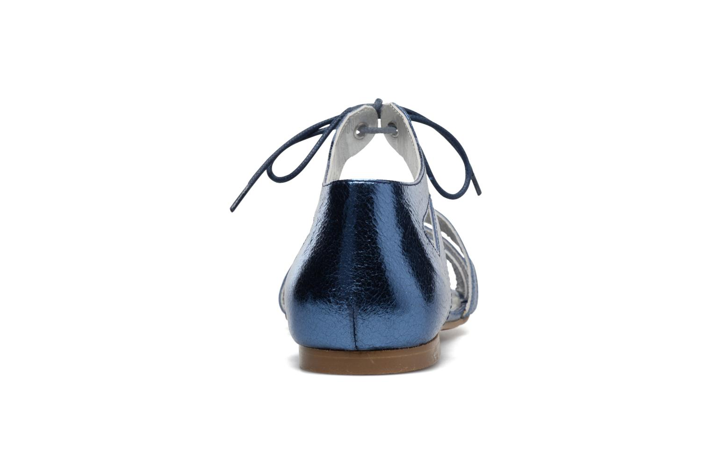 Sandalias Ippon Vintage Popies Crease Azul vista lateral derecha