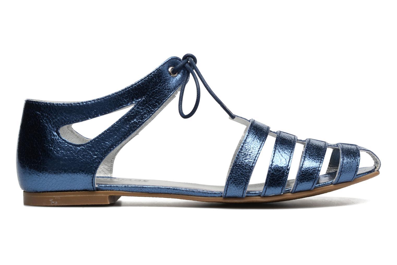 Sandales et nu-pieds Ippon Vintage Popies Crease Bleu vue derrière