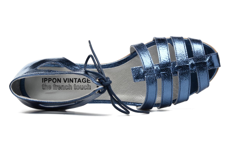 Sandales et nu-pieds Ippon Vintage Popies Crease Bleu vue gauche