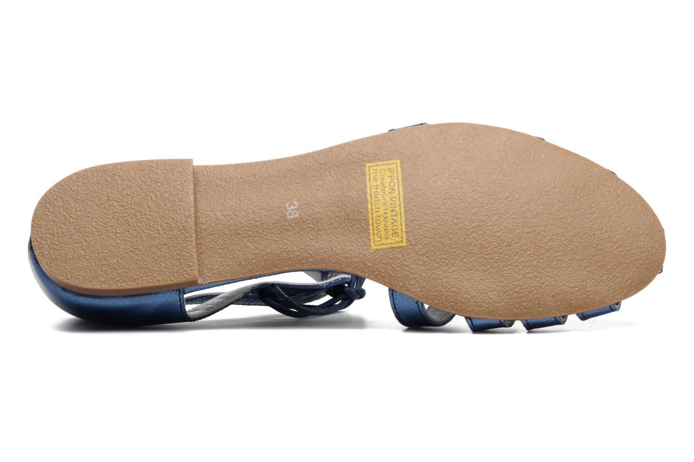 Sandales et nu-pieds Ippon Vintage Popies Crease Bleu vue haut