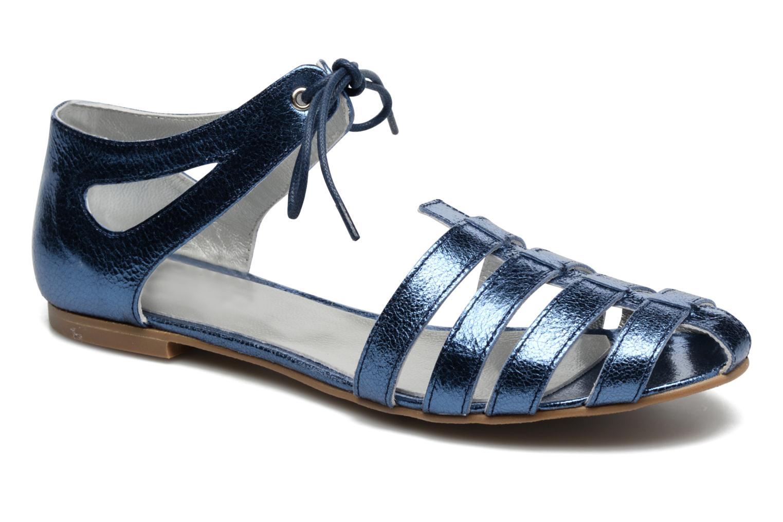 Sandalias Ippon Vintage Popies Crease Azul vista de detalle / par
