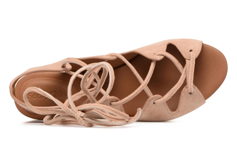 Sandaler See by Chloé Alia Brun se fra venstre