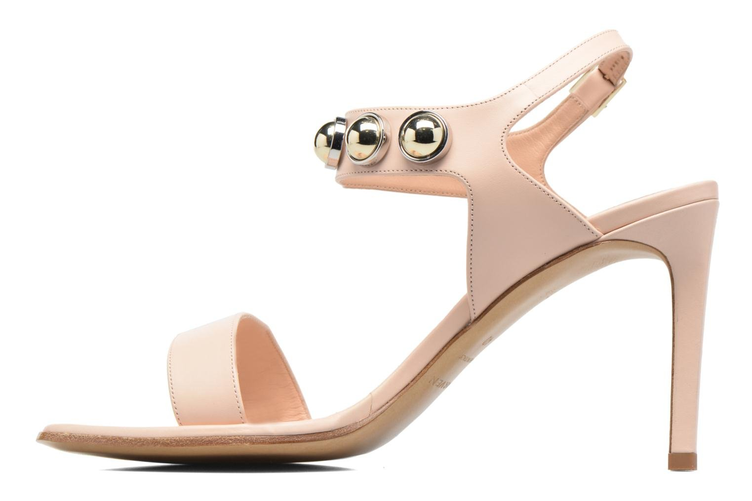 Sandales et nu-pieds Carven Resonance High Sandal Beige vue face