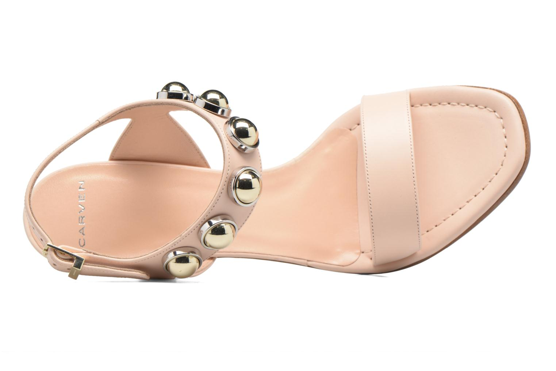 Sandales et nu-pieds Carven Resonance High Sandal Beige vue gauche