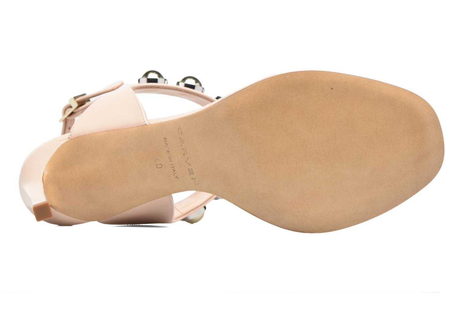Sandali e scarpe aperte Carven Resonance High Sandal Beige immagine dall'alto