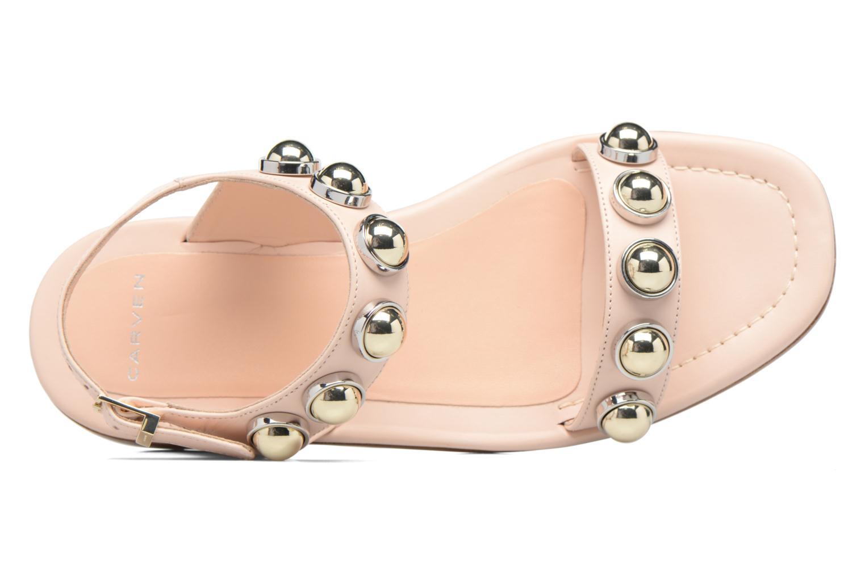 Sandali e scarpe aperte Carven Resonance Flat Beige immagine sinistra